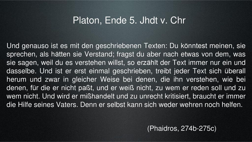 Platon, Ende 5. Jhdt v. Chr
