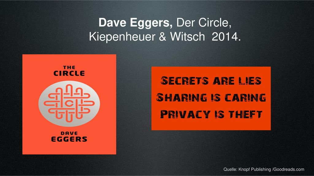 Dave Eggers, Der Circle, Kiepenheuer & Witsch 2014.