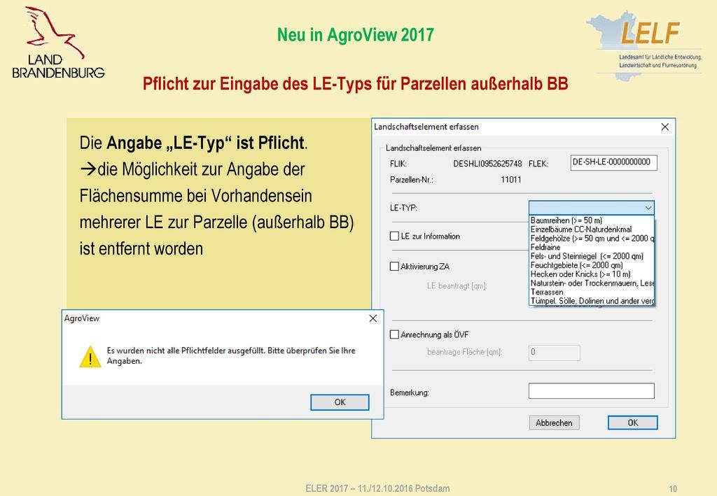 Allgemeine Hinweise - AgroView