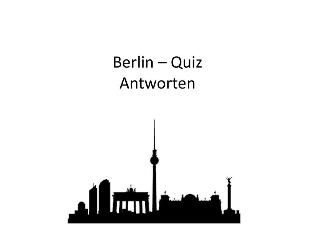 Berlin – Quiz Antworten