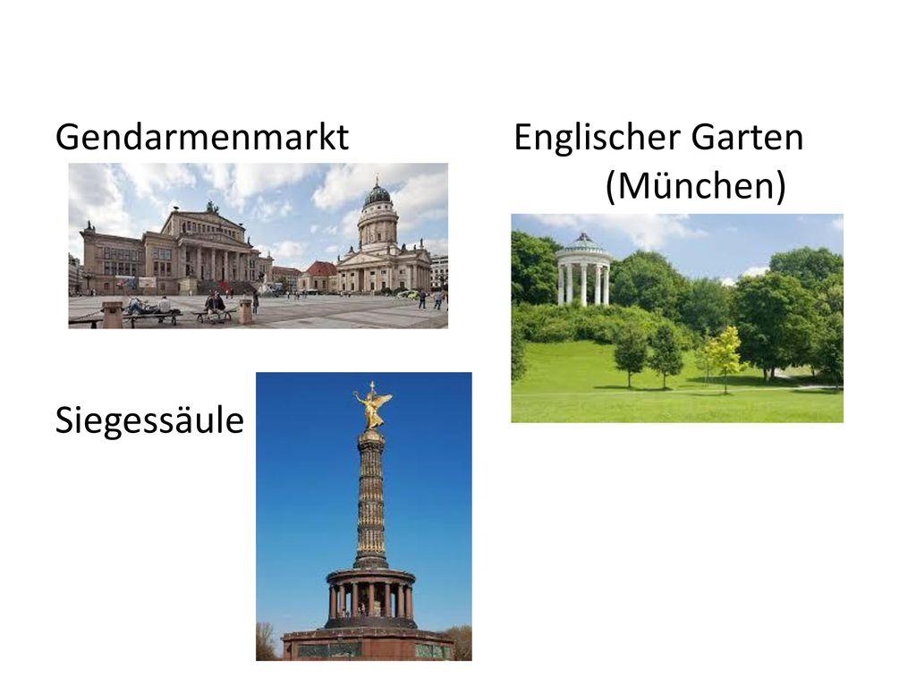 Gendarmenmarkt Englischer Garten (München) Siegessäule