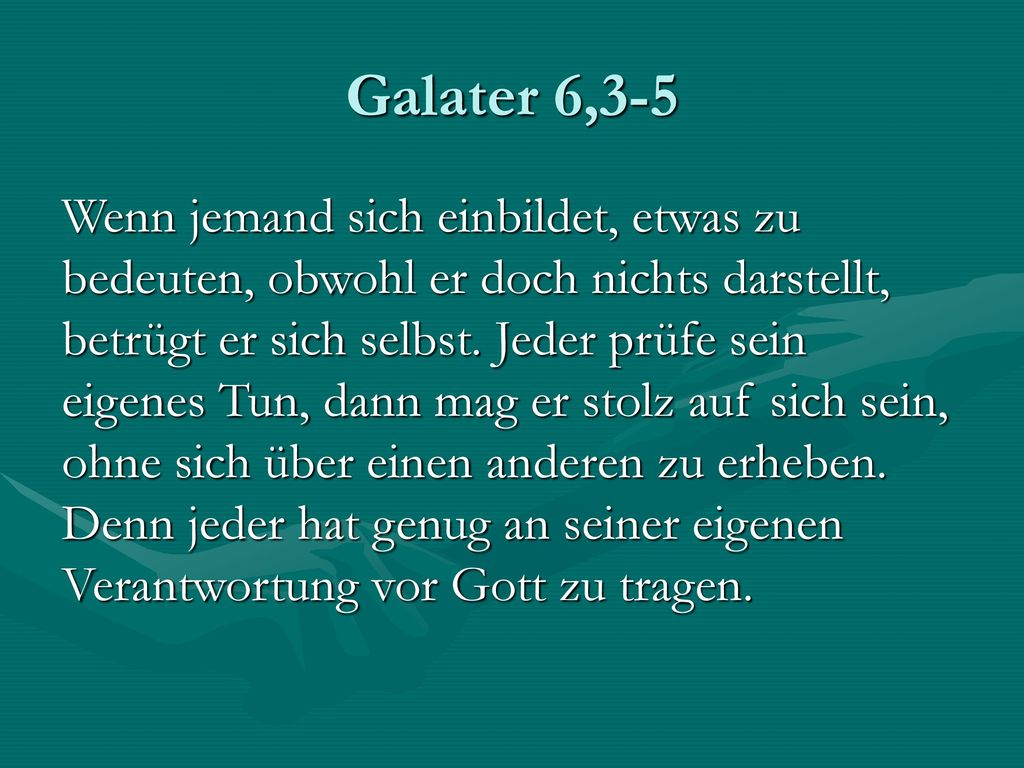 Galater 6,3-5