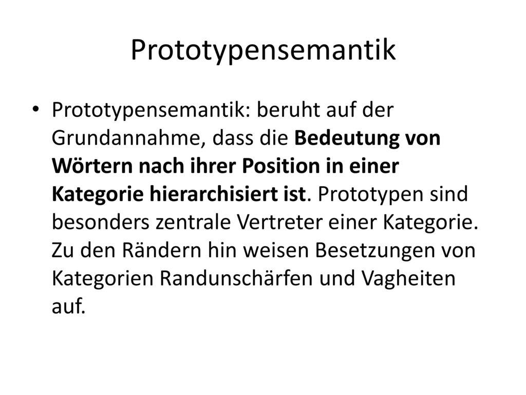 Prototypensemantik