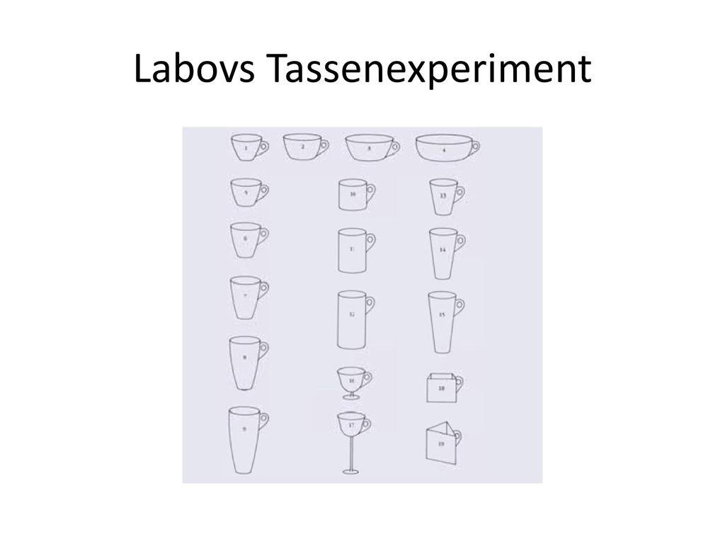Labovs Tassenexperiment