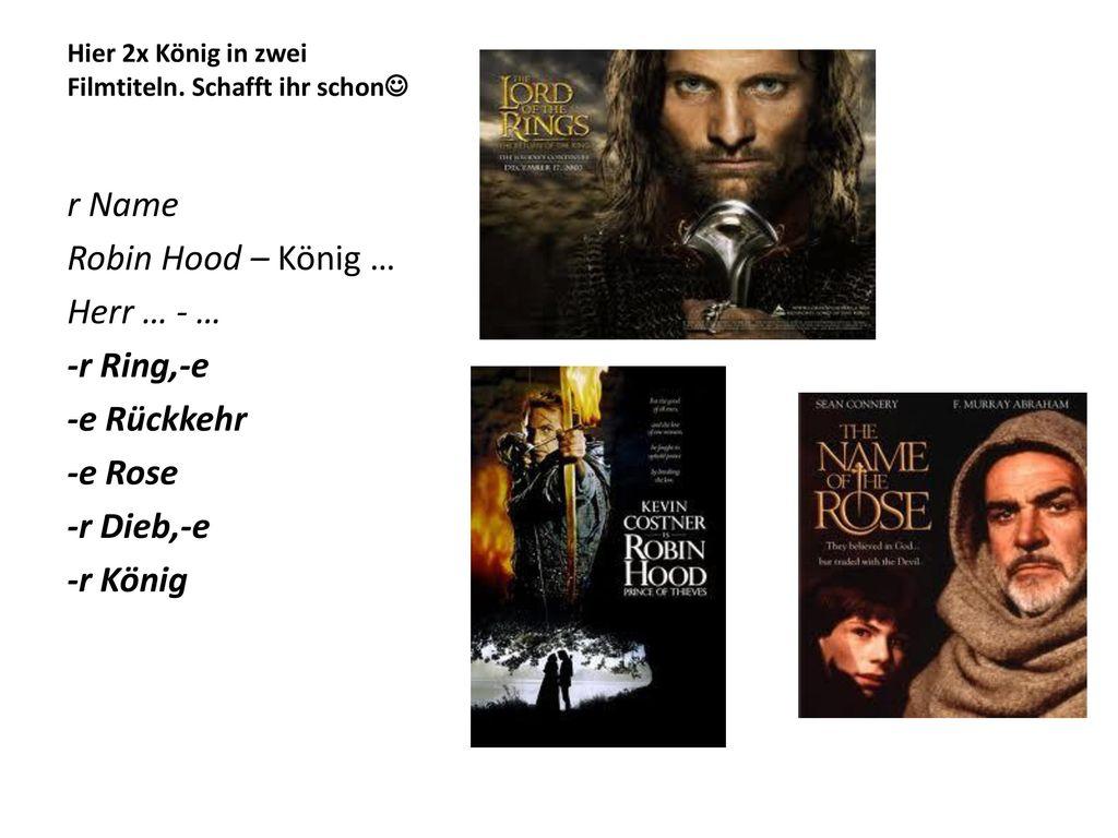 Hier 2x König in zwei Filmtiteln. Schafft ihr schon