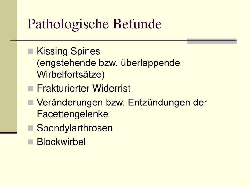 Pathologische Befunde