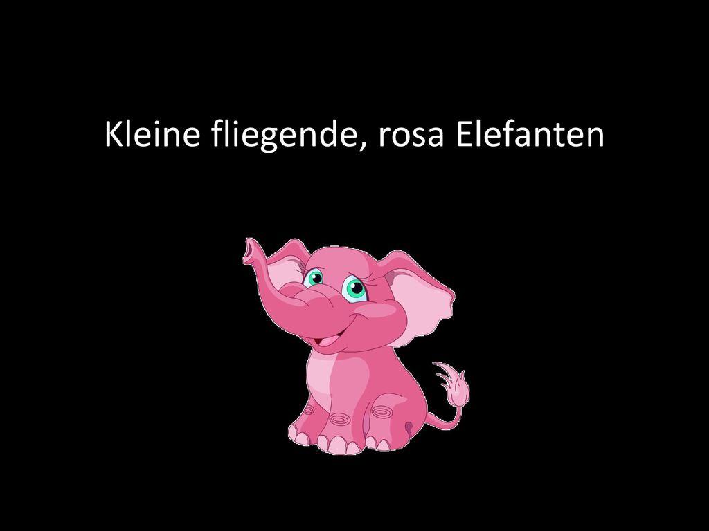Kleine fliegende, rosa Elefanten