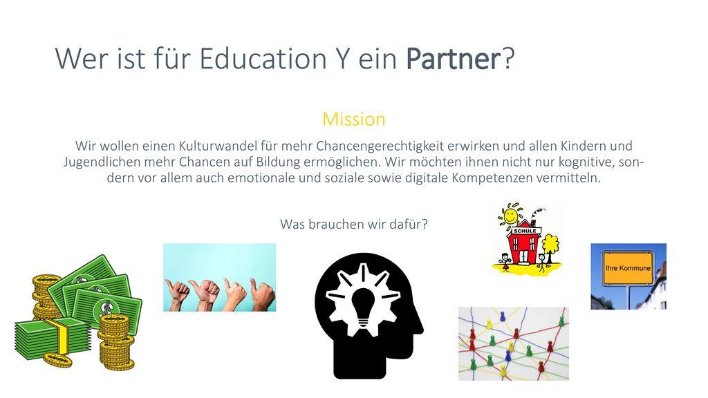 Wer ist für Education Y ein Partner
