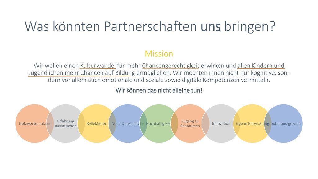 Was könnten Partnerschaften uns bringen