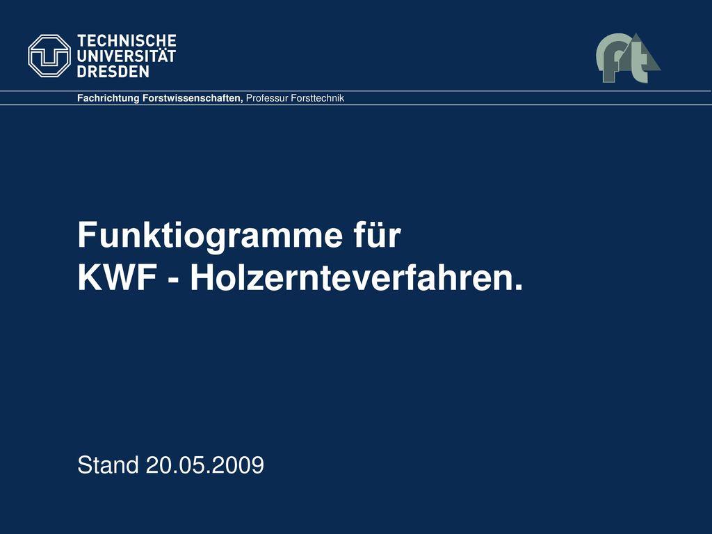 Funktiogramme für KWF - Holzernteverfahren.