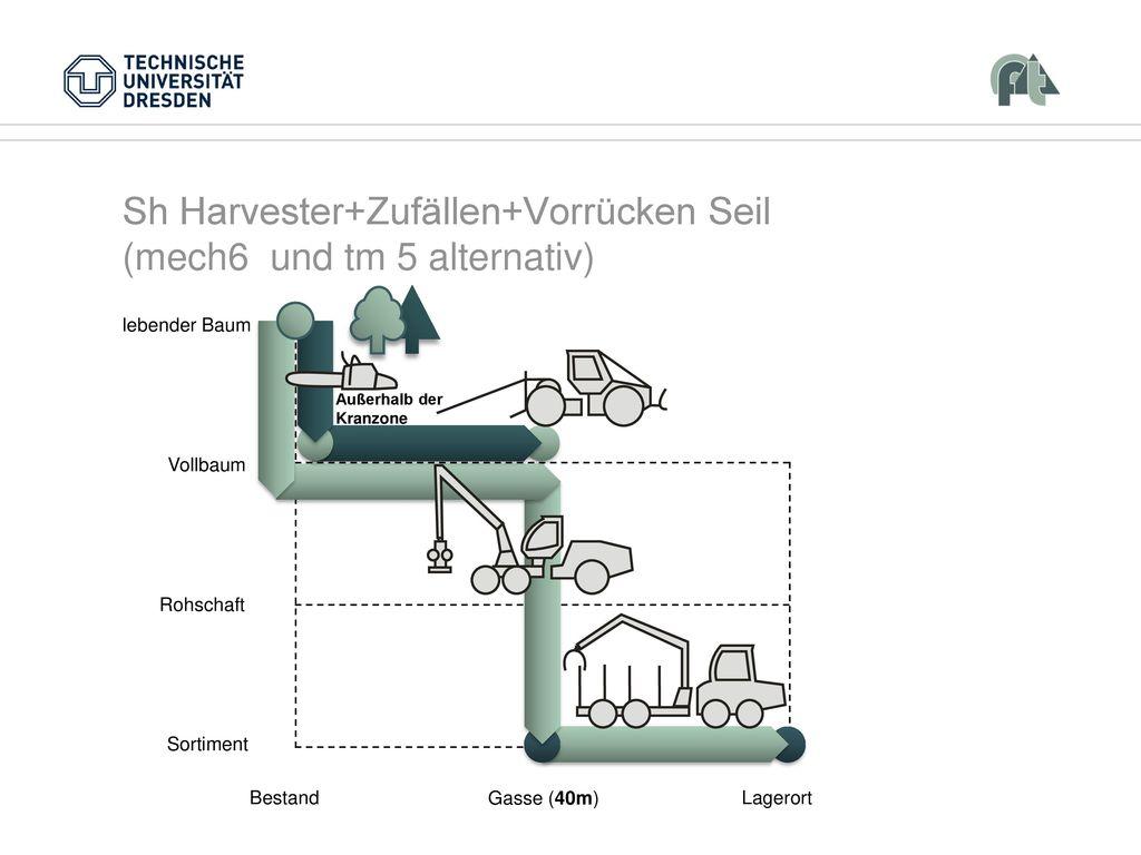 Sh Harvester+Zufällen+Vorrücken Seil (mech6 und tm 5 alternativ)