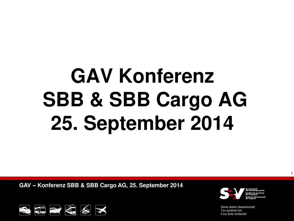 GAV Konferenz SBB & SBB Cargo AG 25. September 2014