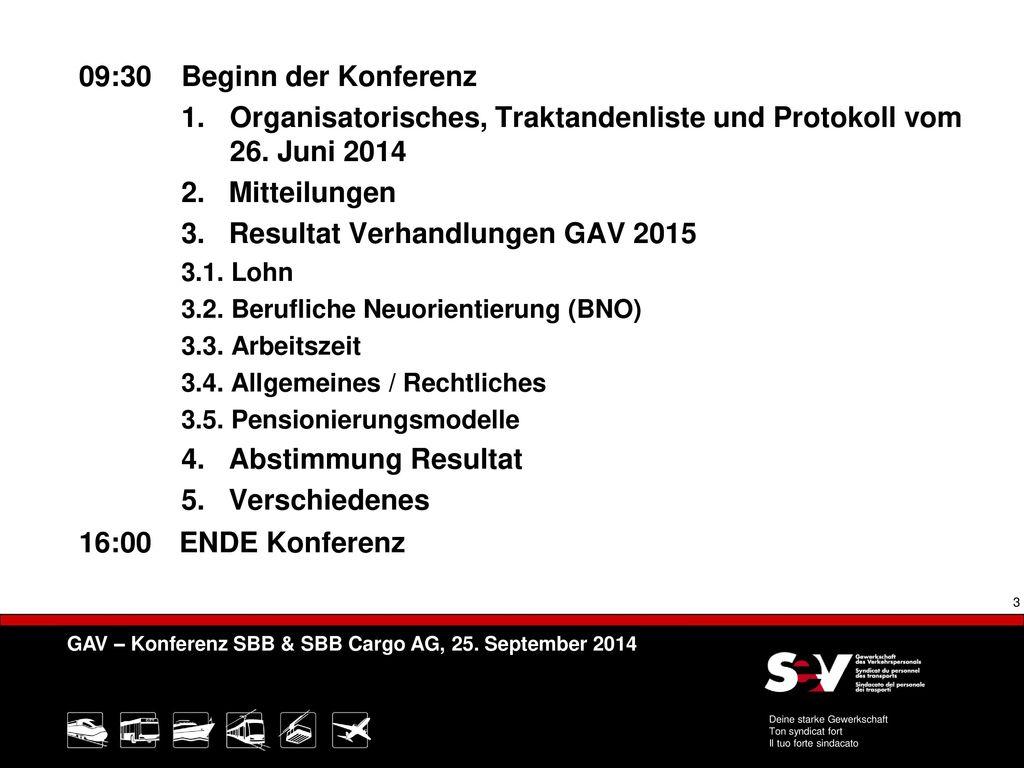 1. Organisatorisches, Traktandenliste und Protokoll vom 26. Juni 2014