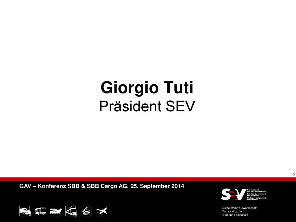 Giorgio Tuti Präsident SEV
