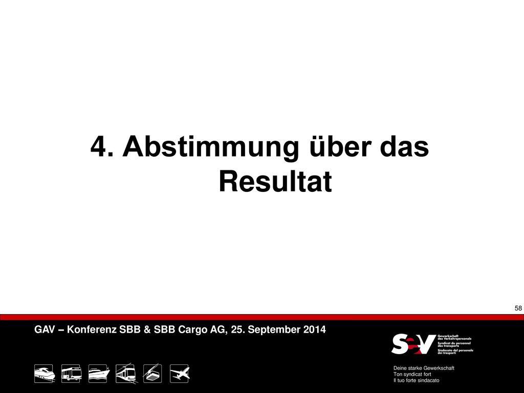 4. Abstimmung über das Resultat