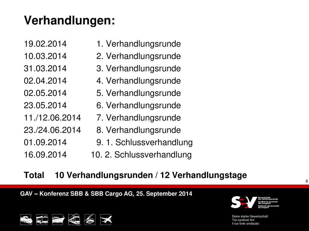 Verhandlungen: 19.02.2014 1. Verhandlungsrunde