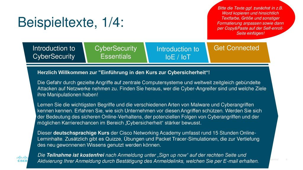 Beispieltexte, 1/4: Introduction to CyberSecurity