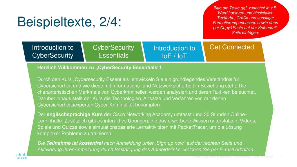 Beispieltexte, 2/4: Introduction to CyberSecurity