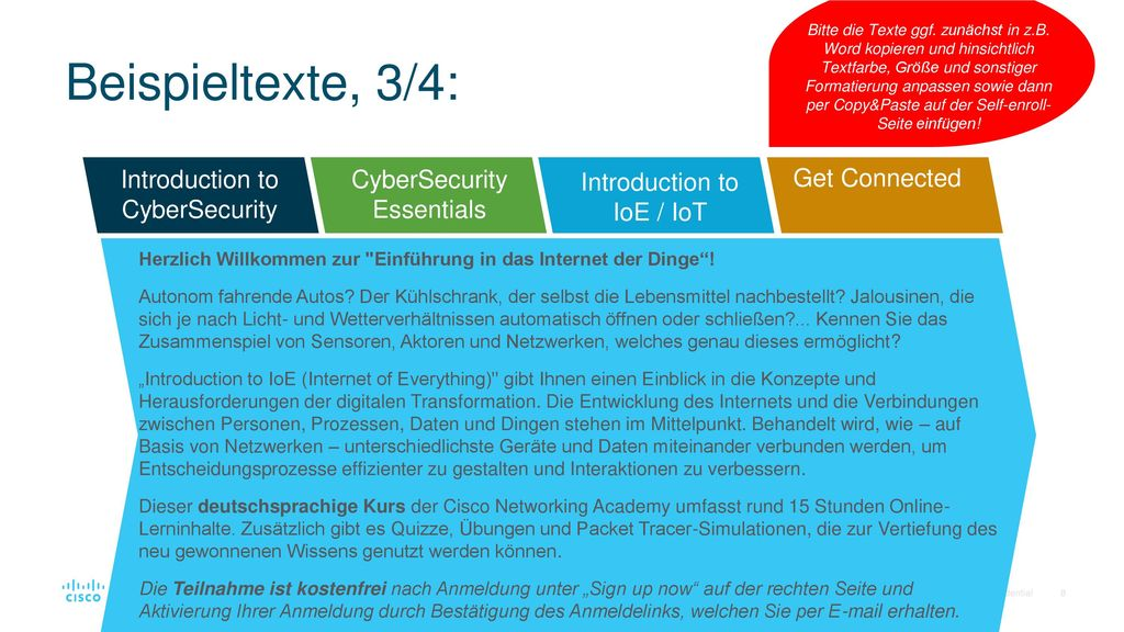 Beispieltexte, 3/4: Introduction to CyberSecurity