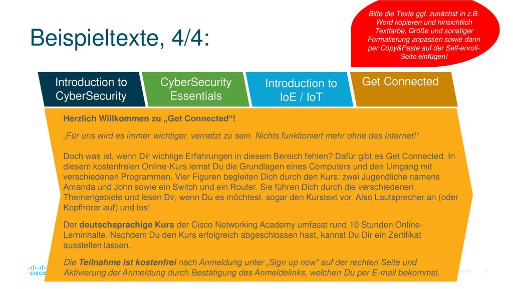 Beispieltexte, 4/4: Introduction to CyberSecurity