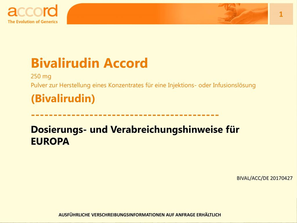 Bivalirudin Accord (Bivalirudin)