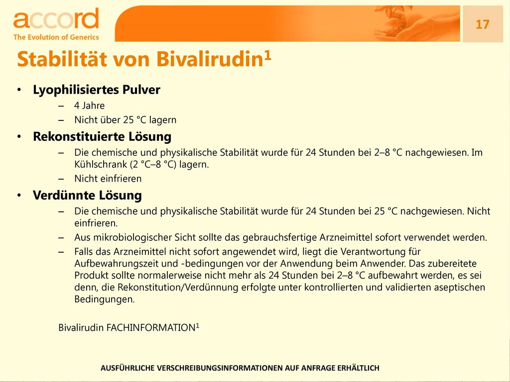 Stabilität von Bivalirudin1