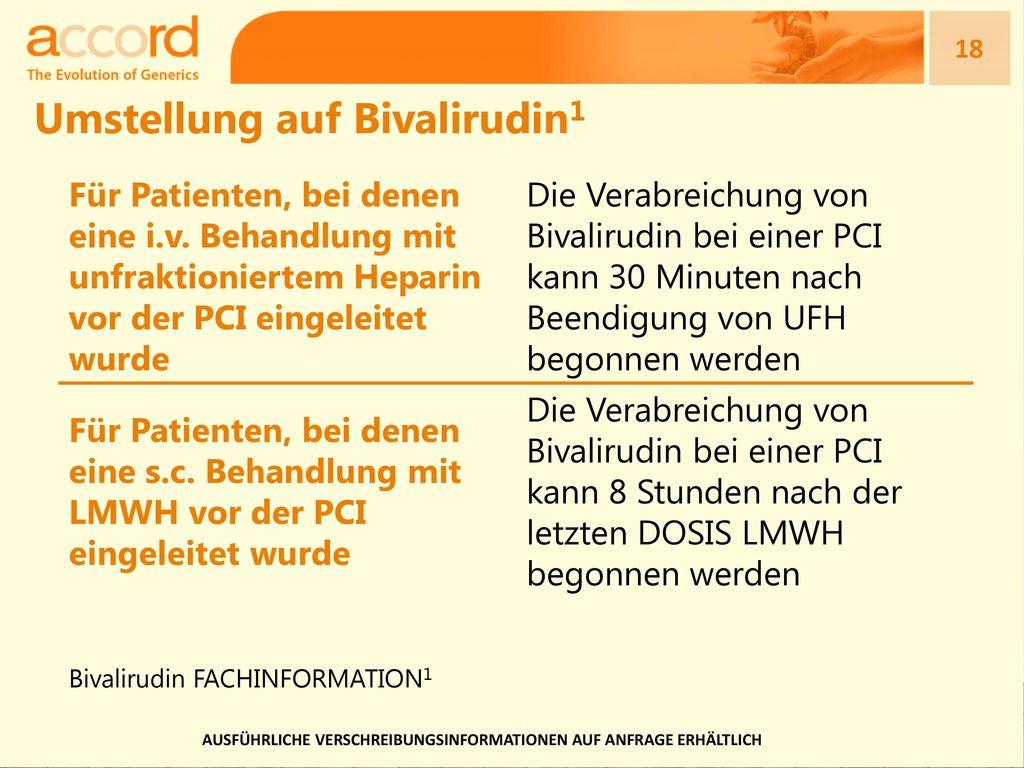 Umstellung auf Bivalirudin1