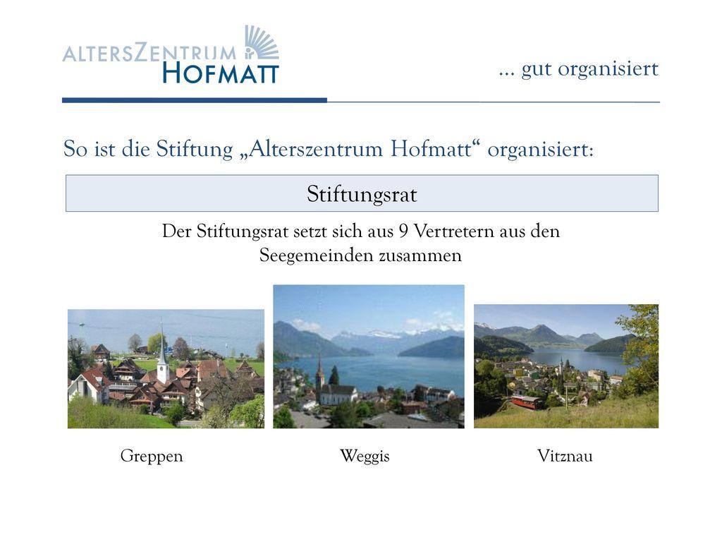 """So ist die Stiftung """"Alterszentrum Hofmatt organisiert:"""