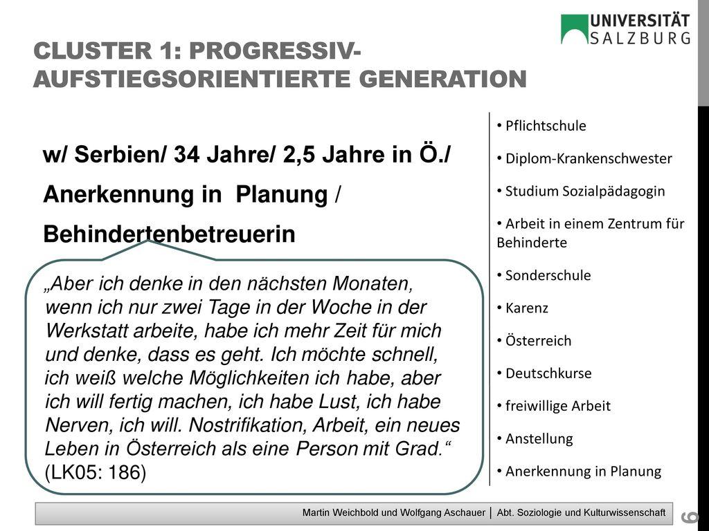Cluster 1: progressiv-aufstiegsorientierte Generation