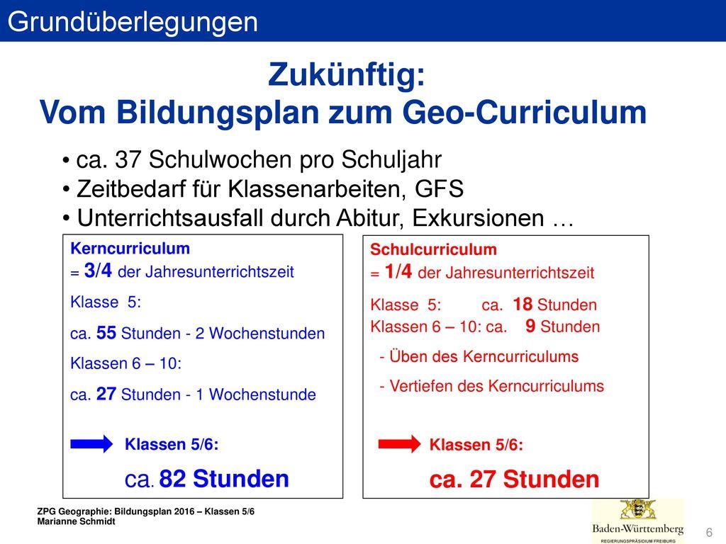 Vom Bildungsplan zum Geo-Curriculum