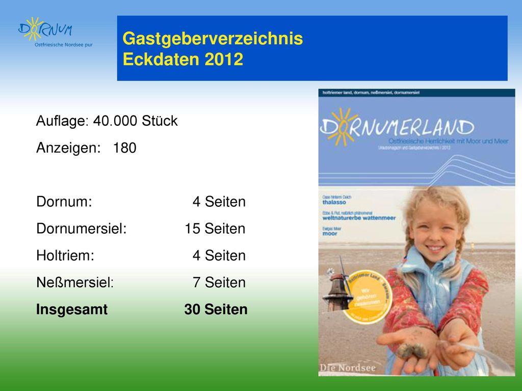Gastgeberverzeichnis Eckdaten 2012