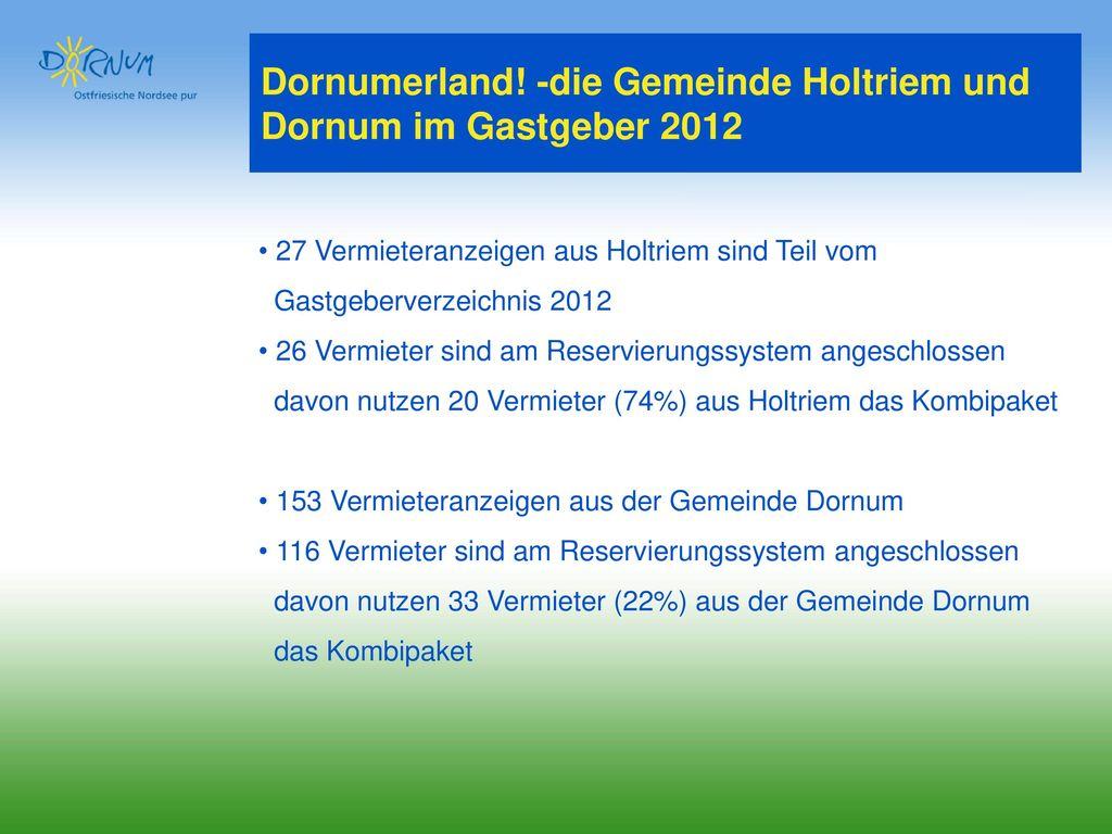 Dornumerland! -die Gemeinde Holtriem und Dornum im Gastgeber 2012