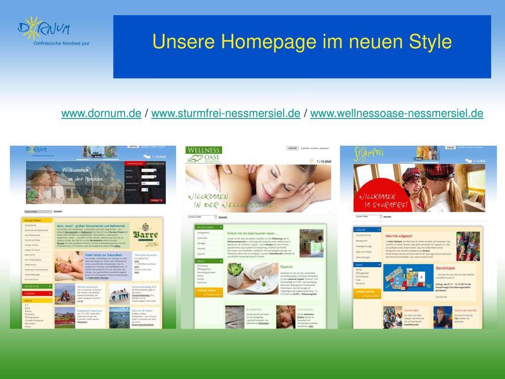 Unsere Homepage im neuen Style