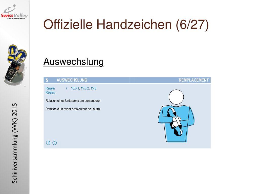 Offizielle Handzeichen (6/27)