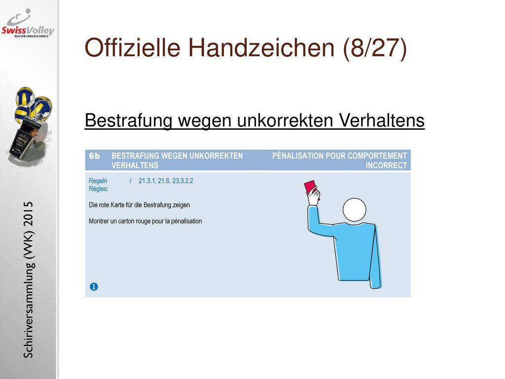 Offizielle Handzeichen (8/27)