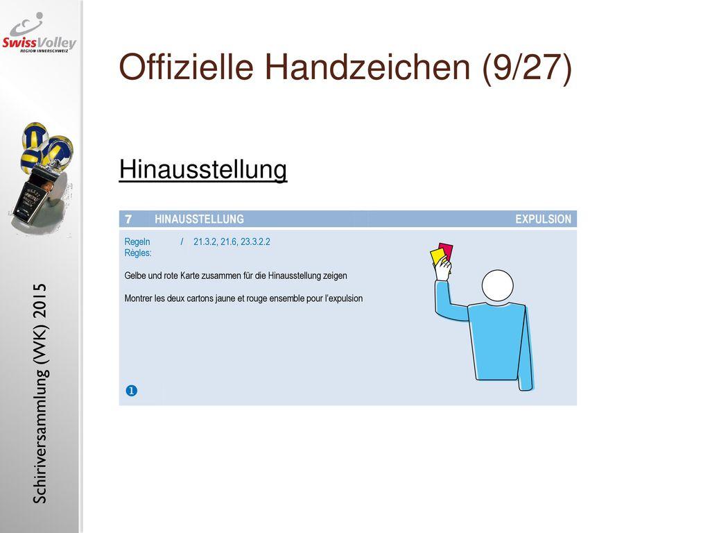 Offizielle Handzeichen (9/27)