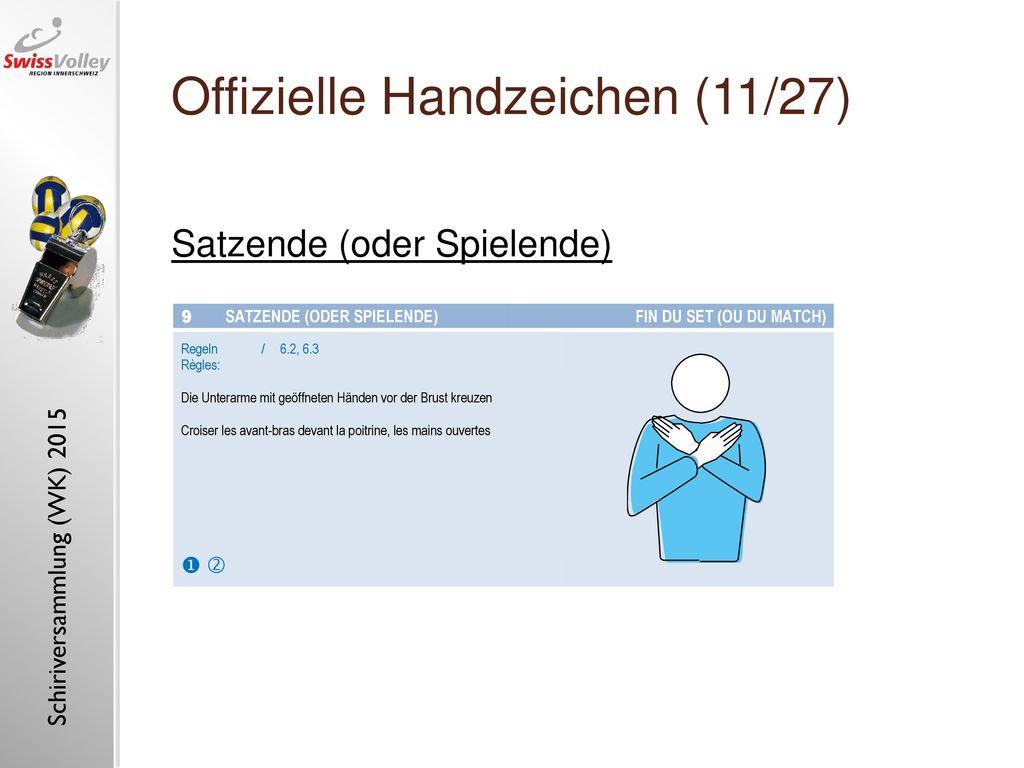 Offizielle Handzeichen (11/27)