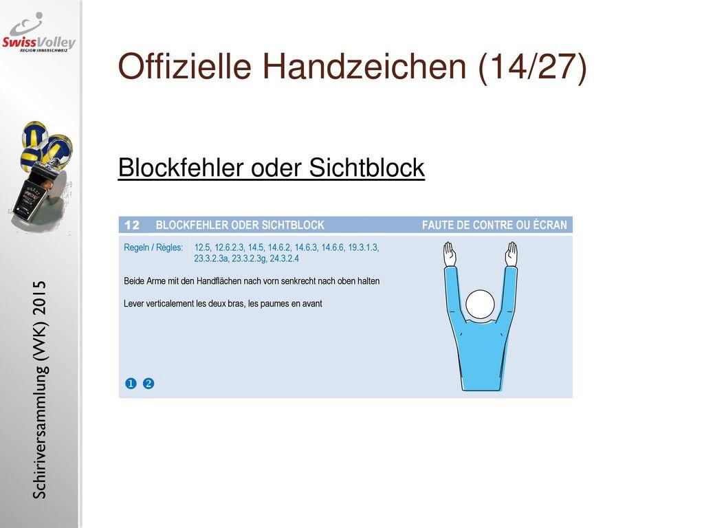 Offizielle Handzeichen (14/27)