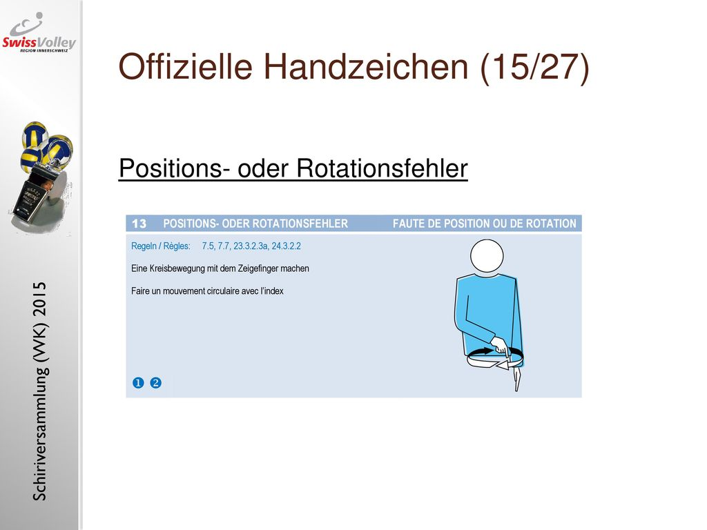 Offizielle Handzeichen (15/27)