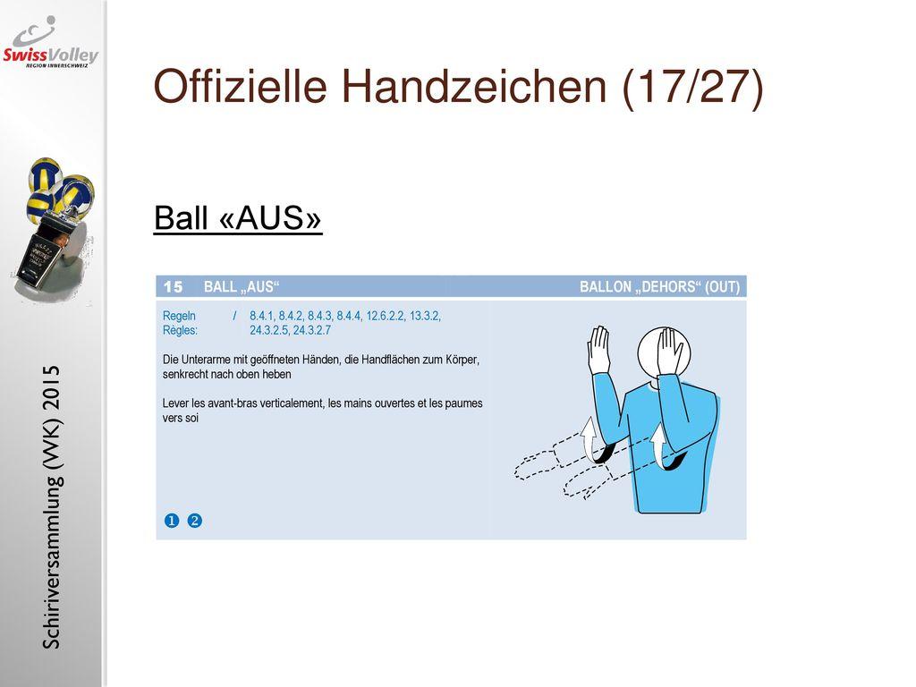 Offizielle Handzeichen (17/27)