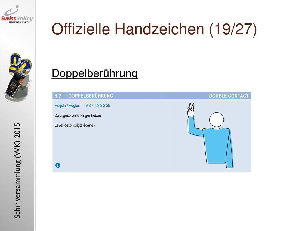 Offizielle Handzeichen (19/27)