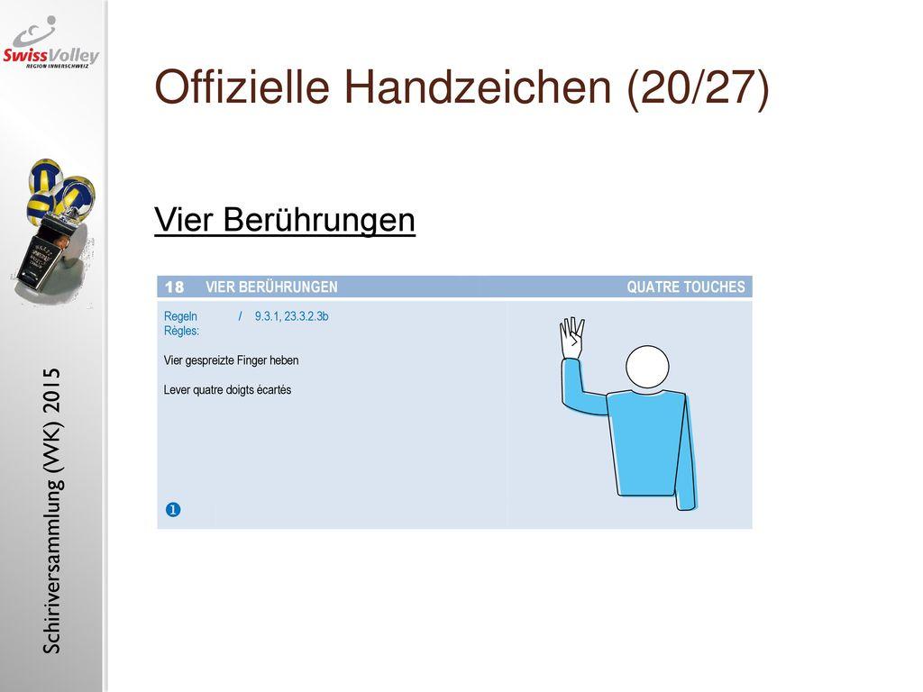 Offizielle Handzeichen (20/27)