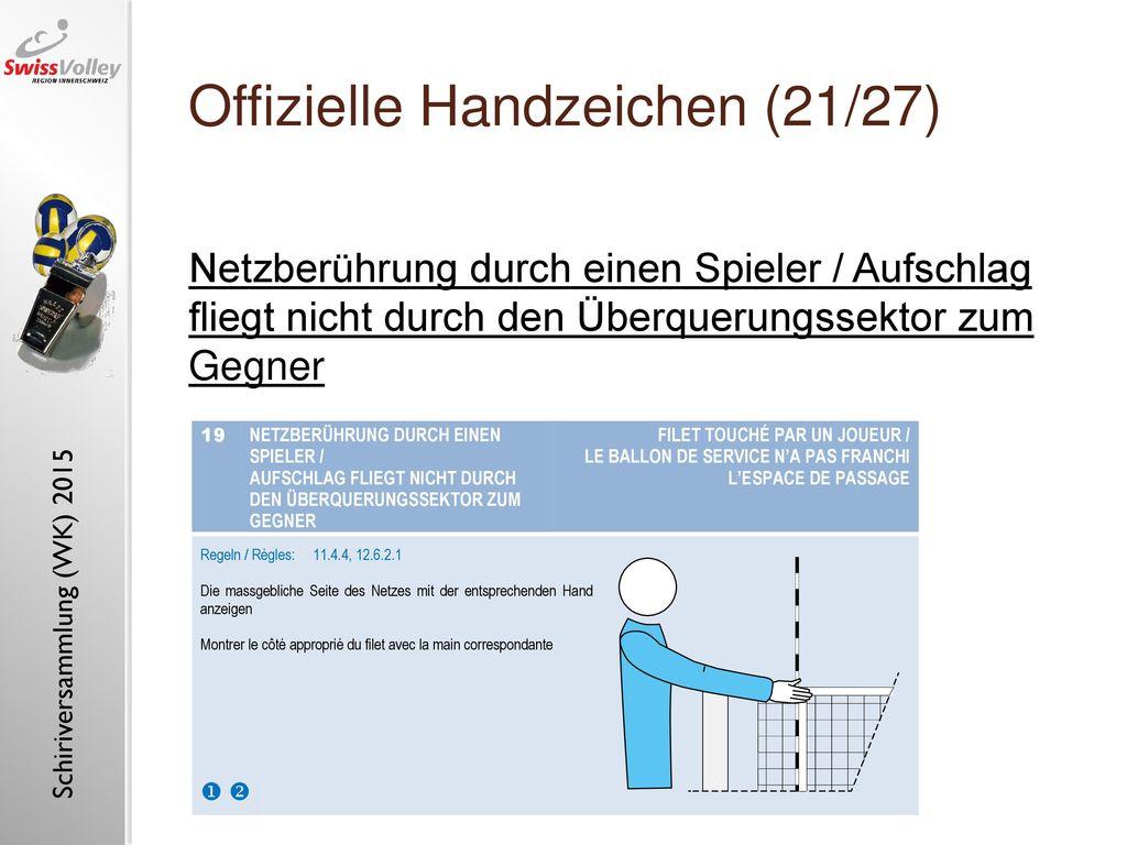 Offizielle Handzeichen (21/27)