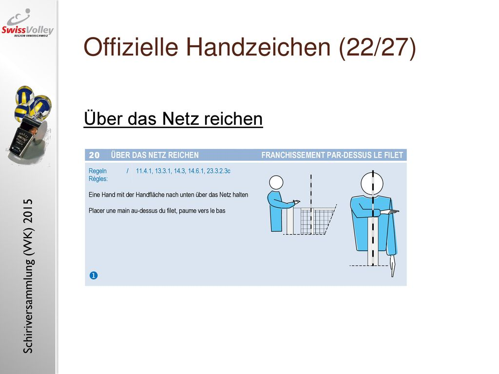 Offizielle Handzeichen (22/27)