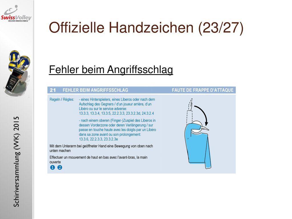 Offizielle Handzeichen (23/27)