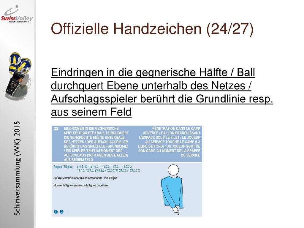 Offizielle Handzeichen (24/27)