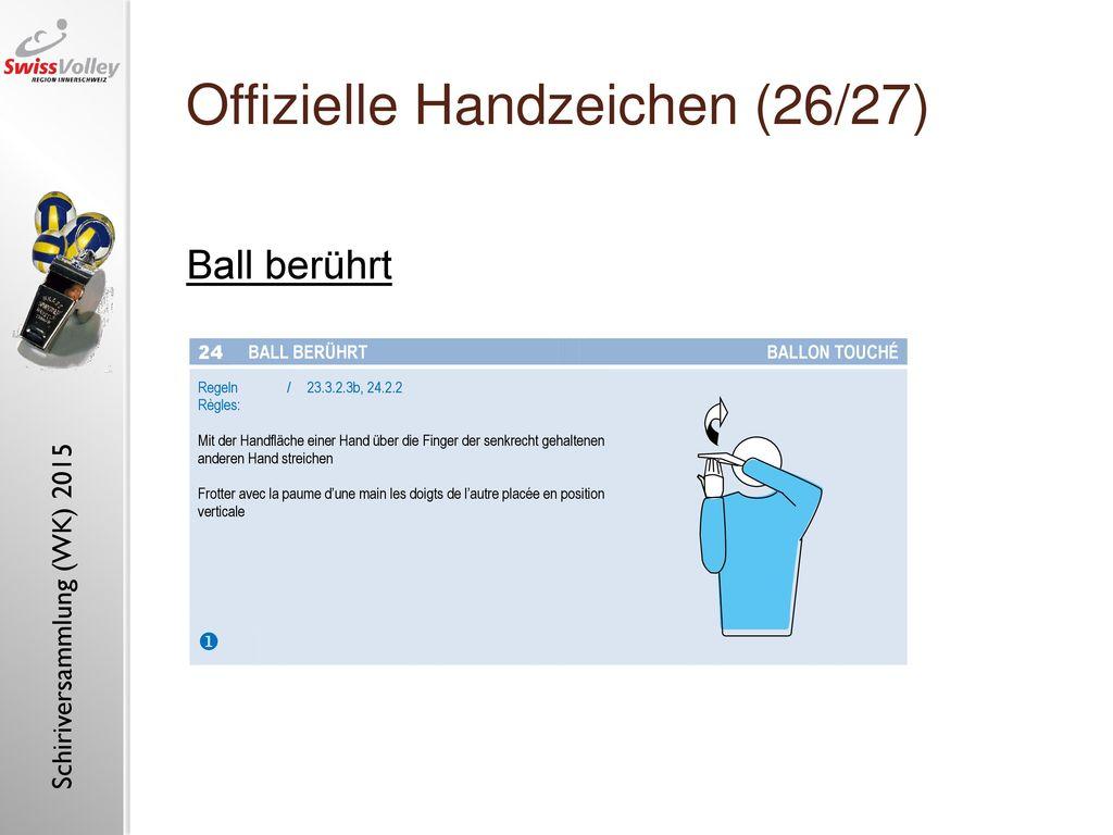 Offizielle Handzeichen (26/27)