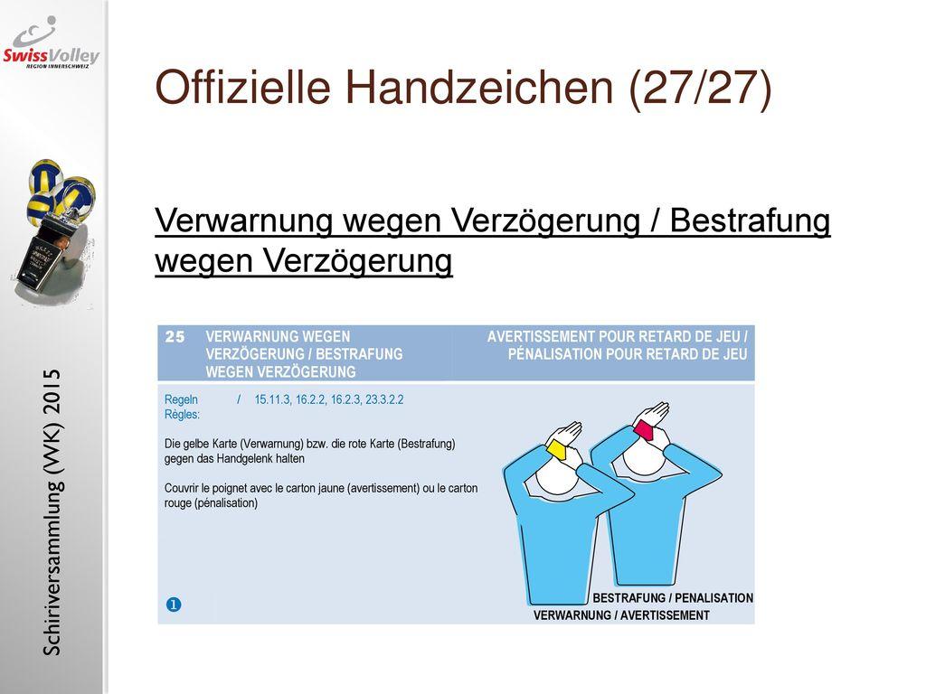 Offizielle Handzeichen (27/27)