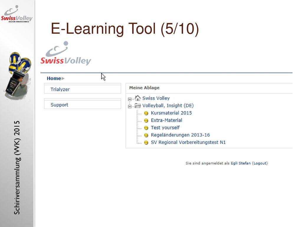 "E-Learning Tool (5/10) E-learning tool ""referee, insight (1)"