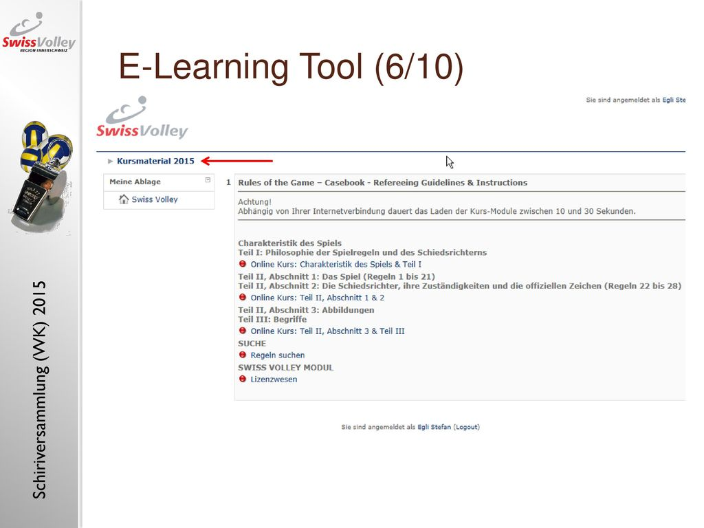 "E-Learning Tool (6/10) E-learning tool ""referee, insight (1)"